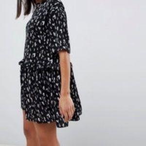 ASOS Mini Smudge Print Smock Dress Sz 6